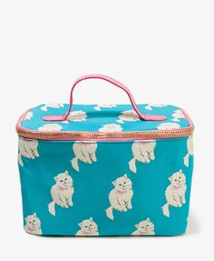 If I were a Cat lover this would be my makeup bag.      Cat Print Cosmetic Bag | FOREVER 21 - 1047909816    $9.80