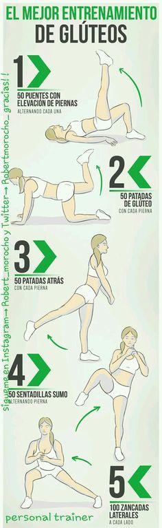 A entrenar piernas. Ejercicios simples para tonificar piernas y glúteos sin necesidad de gimnasio!!