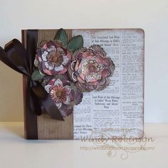 beautiful album & flowers by Windy Robinson w/ Spellbinders dies