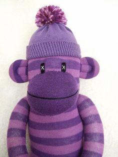 purple sock monkey by sunsetgirl creations, via Flickr