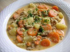 Kartoffel-Hackfleisch-Topf mit Schmand und Möhren, ein sehr leckeres Rezept aus der Kategorie Kochen. Bewertungen: 151. Durchschnitt: Ø 4,5.