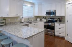 Kitchen Remodel Ashen White Granite Countertop And Cabinets Accent Interiors Salt Lake