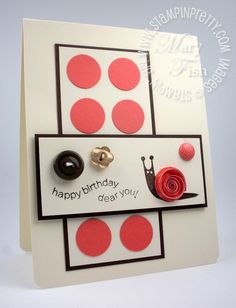 Button Buddies card by Mary Fish