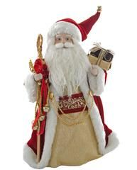 """Katherine's Collection Imperial Guardsman Christmas Collection Set Two 12"""" Table Top Cone Santa Claus Dolls Free Ship"""