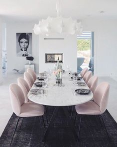 In love with the home of @charlottejardfors  how gorgeous are those dining chairs  | #dining #diningroom #diningroomdecor #whitehome…