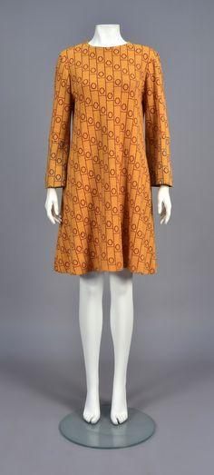 Dress, wool, Rudi Gernreich designer, American, 1960s