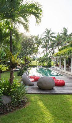 Modern Tropical House, Tropical Garden Design, Tropical Backyard, Backyard Pool Designs, Tropical Landscaping, Tropical Houses, Backyard Landscaping, Tropical Gardens, Tropical Plants