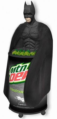 The (odd) Mountain Dew Batman display ...