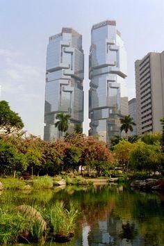 Hong Kong Park, over looking Lippo Centre, Hong Kong