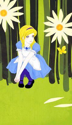 """ Wonderland"" An Allegory| Self Isolation-Depression-Self Harm-Alice series by saitamy"