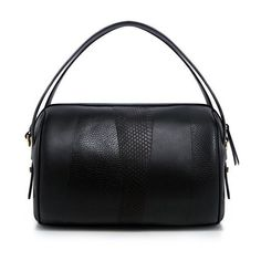 Derek Lam 10 Crosby - Perry Leather Duffle Bag (1.805 BRL) ❤ liked on Polyvore featuring bags, leather duffel bag, duffel bag, genuine leather duffle bag, real leather bags and leather patchwork bag