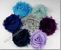 How to make Shabby Chiffon Flowers- Fabricbowsandmore.blogspot.com has lots of tutorials!