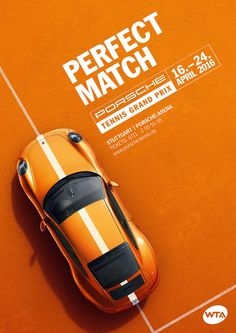 Publicité - Co-branding advertising campaign - Porsche + Tennis Grand Prix 2016 Creative Advertising, Ads Creative, Creative Posters, Advertising Design, Creative Design, Advertising Campaign, Graphisches Design, Logo Design, Game Design