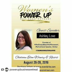 #Repost @powerupbusinessretreat - So excited our founder @iamashleyalove Will be speaking on how you can build your confidence to grow your success at the Power Up Business Retreat! Get your tickets today! You don't want to miss this event!  Ashley Love is a social media visibility and automation strategist publisher and Best-Selling author. She is the founder of the #IAmSimplyBeautiful Business Academy and Global Movement to empower women to grow their self-love walk in their greatness and…