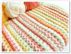 Made in K-town: Dots and dashes throw, link to free pattern Red Heart