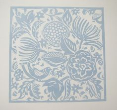 Lino Cut print - Hidden Bird by Linen Prints / Jacqui Watkins, via Etsy.