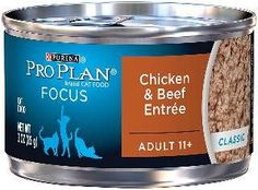 Senior 11+ Chicken/Beef Cat Can