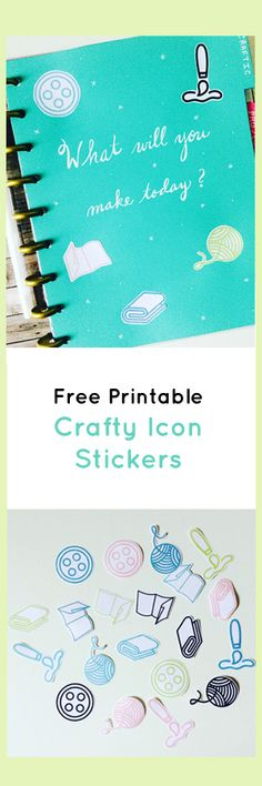 If you're like me, you like a) crafty things, b) free things, and c) customizing things with stickers! I've created my first set of free stickers printables - a set of 5 icons in 5 colors. They are the Craftic icons for paper, yarn, fabric, paint, and buttons. Enjoy! :)