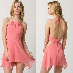 Women Sleeveless Halter Playsuit Bodycon Party Backless Jumpsuit Romper Clubwear on Luulla