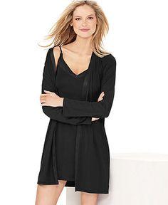 Calvin Klein Pajamas, Essentials Robe S2454 - Lingerie - Women - Macys
