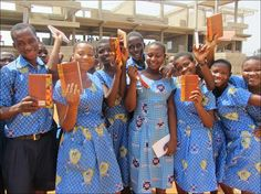 #Students in #Ghana #Africa are seen here holding the #Bibles YOU (the customer) helped purchase to deliver them #God's #Word! @TyndaleHouse