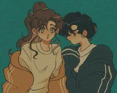 Omg i adore this art style Arte Sailor Moon, Sailor Moon Fan Art, Sailor Jupiter, Sailor Mars, Manga Anime, Old Anime, Manga Art, Anime Art, Sailor Moon Aesthetic