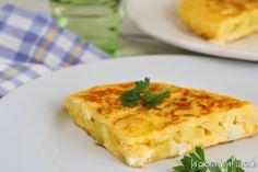 la cocina de aficionado: Tortilla de patatas y bacalao