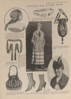 Home book of fashions. 1917. Metropolitan Museum of Art (New York, N.Y.). Thomas J. Watson Library. Trade Catalogs. #accessories #fashionstyle | Fashion is another accessory.