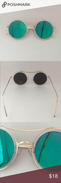 Retro chic round sunnies Brand new! 🔹no trade 🔹light weight🔹 adjustable nose pad🔹 any questions or pics leave me a comment 😃 Accessories Sunglasses