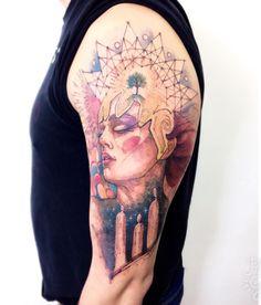 """340 curtidas, 5 comentários - Lincoln Marques (@lincoln_tattoo) no Instagram: """"Visões #visions #conteporaryart #girl #tattoo #tattoodo #tattooed #tattoo2me #tattooistartmagazine…"""""""