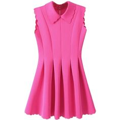 Choies Cute Visco-Elastic Dress In Pink ($38) ❤ liked on Polyvore featuring dresses, pink, pink dress, pink day dress and elastic dress