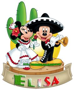 Mexican Mickey Mouse and Minnie Mouse Walt Disney, Disney Love, Disney Mickey, Disney Art, Mickey Mouse Y Amigos, Minnie Y Mickey Mouse, Mickey Mouse And Friends, Disney Cartoon Characters, Disney Cartoons