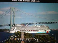 Going under the bridge during sailaway is a must see! Norwegian Breakaway, Marina Bay Sands, Caribbean, Sailing, Cruise, Bridge, Florida, Nyc, New York