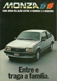 Monza e (Chevrolet) - 1983 Old Advertisements, Car Advertising, Chevrolet Monza, Veteran Car, Car Posters, Unique Cars, Old Ads, Custom Trucks, Ms Gs