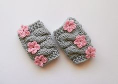 Newborn Baby Girl Legwarmers  Leg Warmers  Baby by KnittingLand, $15.50