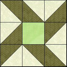 Block of Day for July 24, 2016 - Garden Block- strip piecing-The pattern may be downloaded until:Thursday, August 4, 2016.