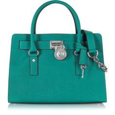 Michael Kors Hamilton EW Satchel (9.260 CZK) ❤ liked on Polyvore featuring bags, handbags, chain purse, michael kors purses, michael kors bags, michael kors handbags and locking purse