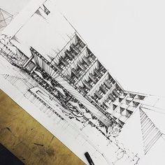Lovely drawing by @trem.art #ArchiSketcher by archisketcher