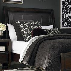 64 Stunning Dark Wood Bedroom Furniture Ideas - About-Ruth Wood Sleigh Bed, Sleigh Beds, Dark Wood Bedroom Furniture, Brown Furniture, Purple Bedding, Grey Bedding, Decoration Bedroom, Wall Decor, Room Decorations