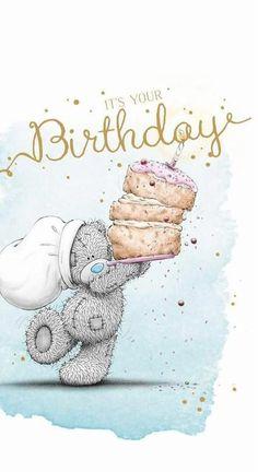 Hey you . Yes you Come online - Tatty Teddy - Aniversario Happy Birthday Wishes Cards, Best Birthday Wishes, Happy Birthday Pictures, Birthday Wishes Quotes, Happy Wishes, Happy Birthday Sister, Happy Birthday Funny, Birthday Love, Birthday Woman