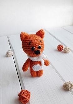 PDF Лисенок. Бесплатный мастер-класс, схема и описание для вязания игрушки амигуруми крючком. FREE amigurumi pattern. #амигуруми #amigurumi #схема #описание #мк #pattern #вязание #crochet #knitting #toy #handmade #рукоделие #лисенок #лисёнок #лиса #лис #лисичка #fox