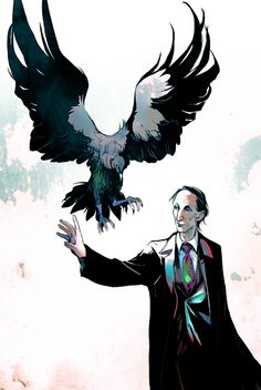 Actually the Vulture is the incarnation of Lucifer here. No religion associated, just appears as the vulture . The Vulture and Death Supernatural Destiel, Supernatural Drawings, Supernatural Wallpaper, 3 4 Face, Mark Pellegrino, Crowley, Superwholock, Illustration, Anime