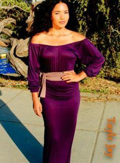 Deep Purple Goddess off shoulder long length maxi dress,  Dress, MAXI PURPLE OFF SHOULDER LONG LENGTH, Casual