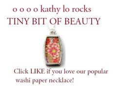 Washi Paper Necklace