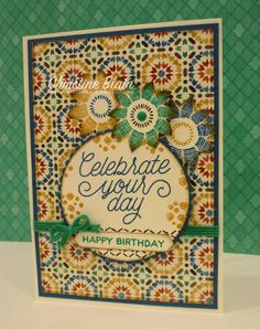 HAPPY HEART CARDS: JAI #320: STAMPIN' UP! MOROCCAN DESIGNER SERIES PAPER, AND A SKETCH