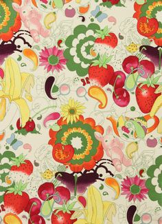 "The last pinner said: ""Retro. Alexander Henry - Collections"" -- It's a pattern for paper or a quilt. I find it quite pretty."