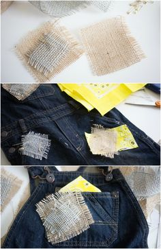 How to make faux patches for an Easy No Sew Scarecrow Costume!                                                                                                                                                                                 More