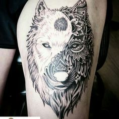 18 Best Yin Yang Wolf Images Wolf Pictures Costumes Tattoo Wolf