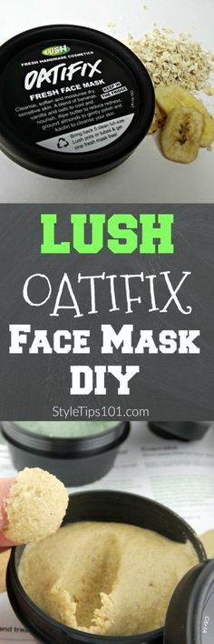 DIY Lush Oatifix mask
