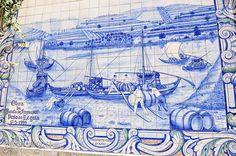 Peso da Régua, Portugal Azulejos Along The Douro Railway Posted on August 25, 2014 by Gail Aguiar (Gail at Large)